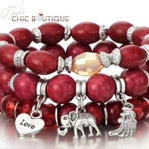 Boho style 3 tier bracelet